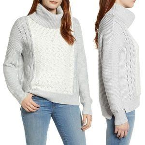 Caslon Cowl Neck Boucle Knit Sweater